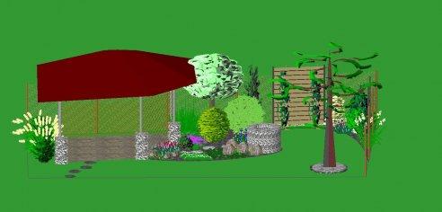 Návrh rodinnej záhrady - Malá Ida
