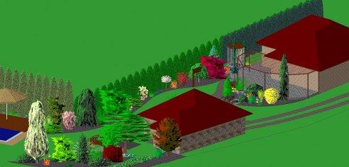 Návrh rodinnej záhrady-Rudník