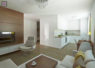 Moderný dizajn interiéru bytu kuchyne s obývačkou, vstupu, spálne a pracovne I PRUNUS štúdio
