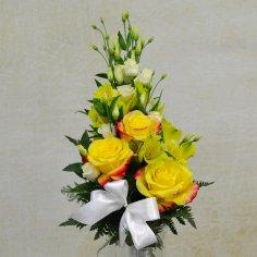 Slávnostná žlto biela kytica