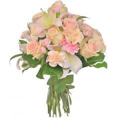 Krémová kytica ruží