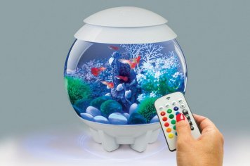Dizajnové akvárium biOrb Halo 15 biele + MCR ovládač