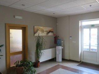 Maľba administratívnej budovy podľa návrhu dizajnérky.