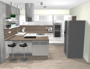 Grafický návrh kuchynskej linky