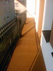 podlaha na balkóne z drevoplastu wpc Sufloor