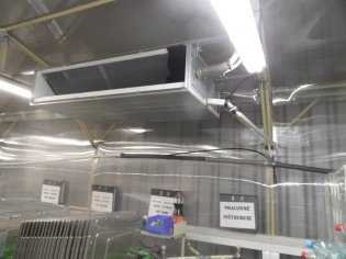 inštalácia priemyselných kanálových jednotiek SAMSUNG – 7ks