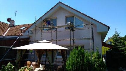 Okná, sieťky, krovný podhlad