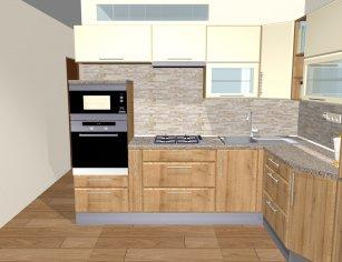 Grafický návrh kuchynskej linky do paneláku