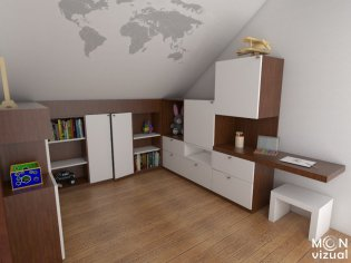 Návrh a realizácia nábytku do podkrovnej izby
