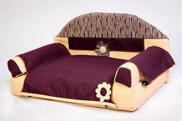 Fialový gauč pre psíka