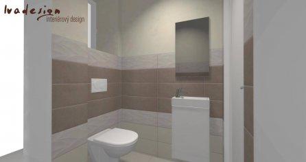 3D návrh kúpeľne a WC