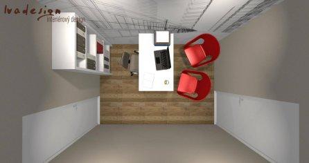 Návrh interiéru kancelárie 3D